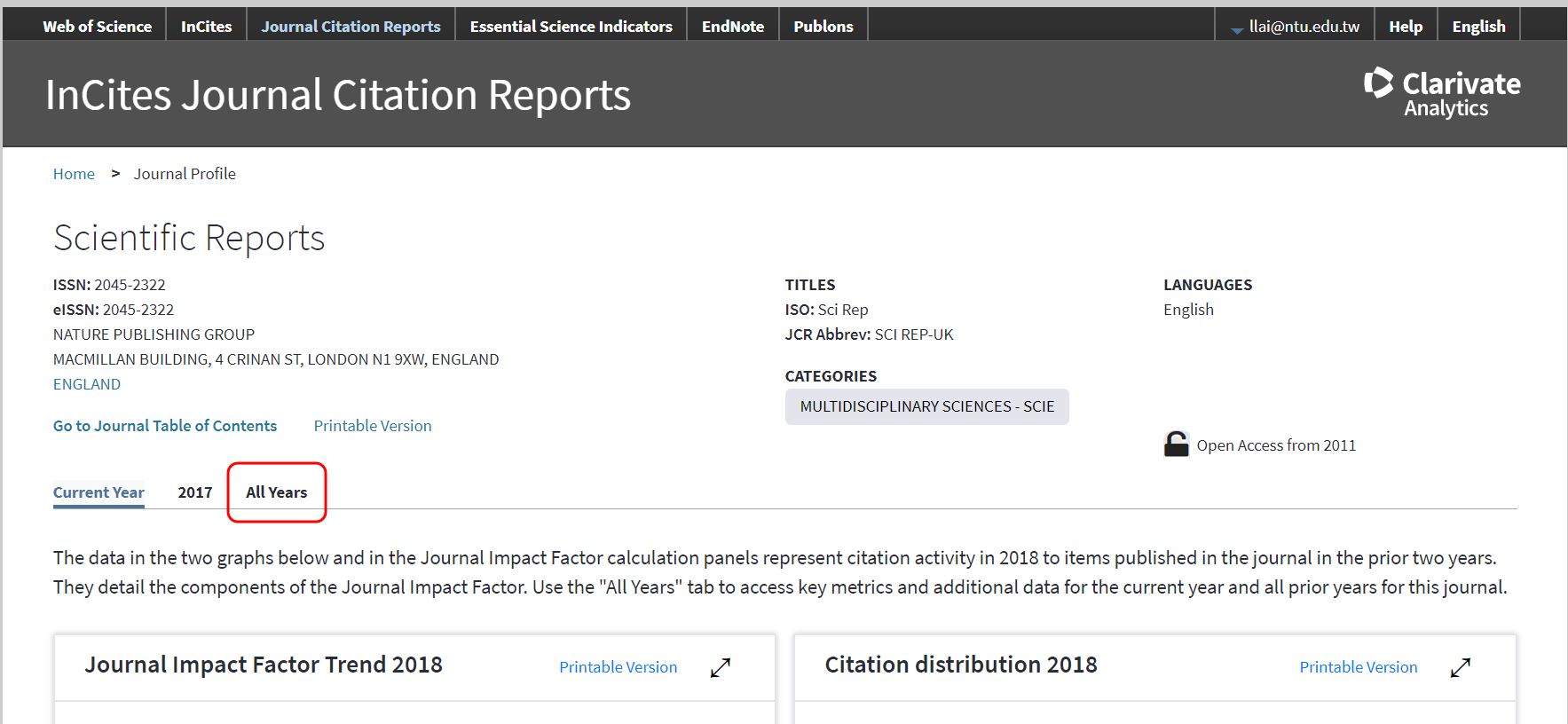 Exercise] Find the 5-year impact factor and rank of